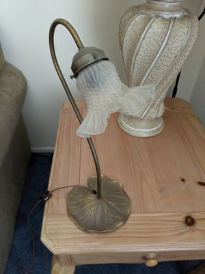 Antique Lamp with Lilly Pad Base for Sale in Westminster, CA