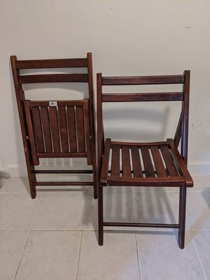 Folding chairs for Sale in Fairfax, VA