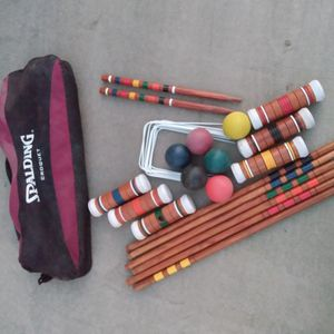 Complete Beautiful Spalding Croquet Set for Sale in Fresno, CA