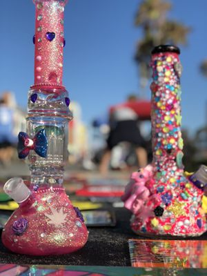 Custom bedazzled glass art kawaii for Sale in Long Beach, CA