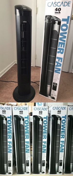 $20 each 40 inches spinning cascade fan open box tower fan oscillation timer quiet ventilador for Sale in West Covina, CA