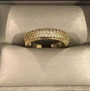 Unisex 18K Gold plated Engagement/Wedding Ring - Multi Cut- Diamond 💎 for Sale in Houston, TX