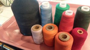 Large spools of thread black blue green red orange lavender lot Sew sewing for Sale in Lakewood, CA