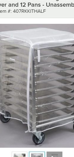 Regency 10 Pan End Load Half Height Bun/Sheet Pan Rack With Cover for Sale in Reedsville,  WV