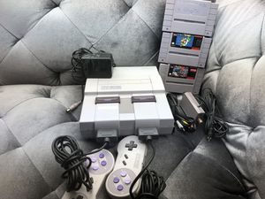 Super Nintendo SNES System Console With 2 Controllers and 3 games Lot for Sale in Fresno, CA