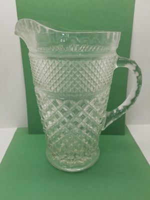 Wexford Waffle Pattern Pressed Glass Pitcher (Please Read Description) for Sale in Phoenix, AZ