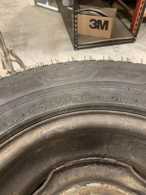 LT 245 75R 16 (2 Goodyear tires and rims) for Sale in Wallingford, CT