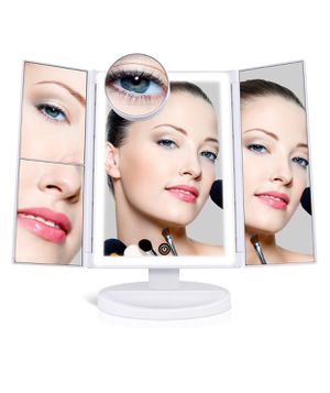 Makeup Mirror with 36 LED Lights, 10x/3x/2x Magnification, 4 Tape-lights Vanity Mirror with Touch Screen, Battery and USB Powered, Portable High-Defi for Sale in New York, NY