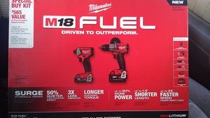 M18 fuel 2tool combo. Surge hydrolic driver and hammer drill/ driver. 5.0and 2.0 battery for Sale in Portland, OR