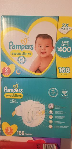 Pampers swaddlers size 2 168 daipers $35 each box firm price for Sale in Los Angeles, CA