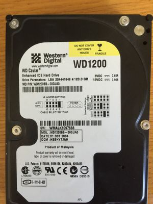 Hard Drive 120GB for Sale in Tacoma, WA