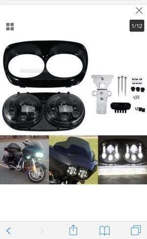 Dual led headlight projector for HD road glide 2004-2013 for Sale in Los Angeles, CA