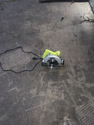 Ryobi circular saw 7-1/4 for Sale in Dallas, TX