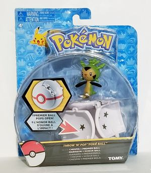 Pokemon Throw N Pop - Chespin Action Figure With Premier Ball for Sale in Riverside, CA