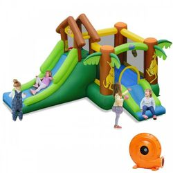 A178-Kids Inflatable Jungle Bounce House Castle with Blower for Sale in Los Angeles,  CA