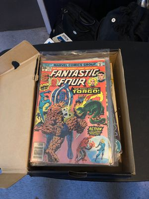 Box of about 60 comics from the 80's and 90's for Sale in Fontana, CA