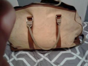 Ralph Lauren vintage leather canvas mens tote gym bag.not torn used but still in fair .1 bag fond on internet used and priced for $754.00. for Sale in Mesa, AZ