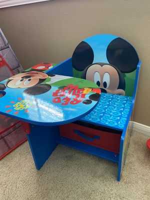 Mickey Mouse kids wooden desk for Sale in Chino, CA