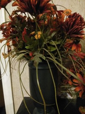 Beautiful artificial flowers in Black pot I have two of them for Sale in Winter Haven, FL