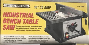 """10"""" Table Saw 15 amp made by Central Machinery for Sale in New Port Richey, FL"""