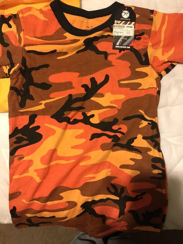 Orange Camo Shirt from Zumiez