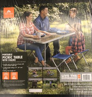 Ozark Trail: Foldable table & Stools for Sale in St. Charles, IL