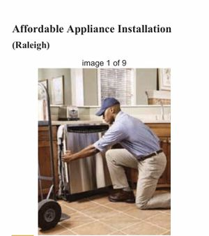 Dishwasher and microwave installation for Sale in Raleigh, NC