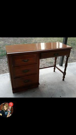 Solid wood vintage desk for Sale in San Antonio, TX