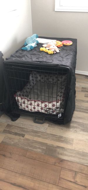 Dog crate with cover for Sale in Winchester, CA
