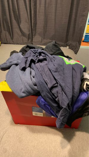 Full bin of men's clothes large for Sale in Phoenix, AZ