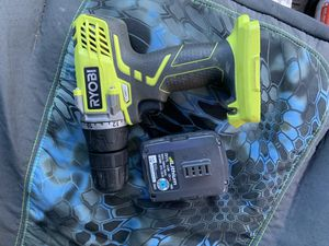 Ryobi 12 volt drill with battery No charger works good for Sale in Tiverton, RI