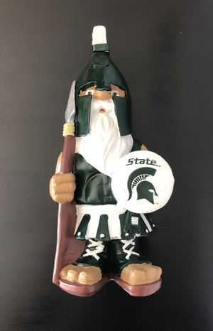 Michigan State MSU College Mascot NCAA Basketball Football Baseball Forever Collectible Gnome Figure Statue - NICE!! for Sale in Fair Oaks, CA