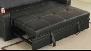 QUEEN SIZE ADJUSTABLE SOFA BED FURNITURE FEELS LIKE A NICE MATTRESS GL1YR for Sale in Ontario, CA