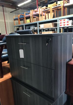 Gray 2 drawer lateral file office furniture for Sale in San Diego, CA