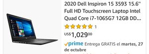 Dell laptop Inspiron 15,6 i7 Touchscreen for Sale in Houston, TX