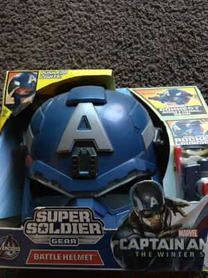 marvels CAPTAIN AMERICa battle helmet toy for Sale in Huntington Park, CA
