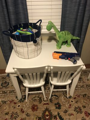 Children's desk two chairs and shelf $75 for Sale in Richmond, VA