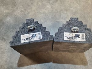 RUMBER rubber wheel chocks plus 4 yellow for Sale in Reedley, CA
