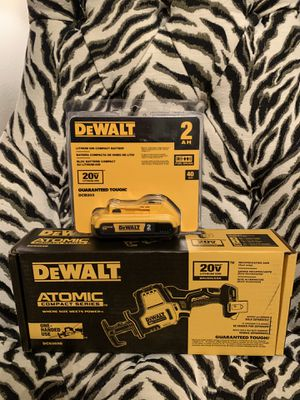 DEWALT ATOMIC 20-Volt MAX Brushless Compact Reciprocating Saw with 1 battery NO CHARGER for Sale in Miami, FL