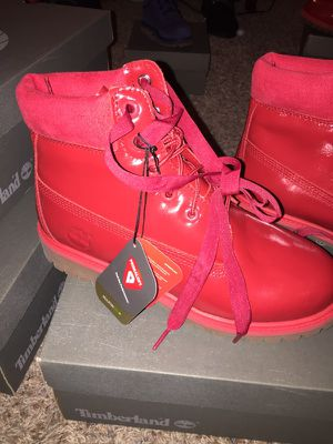 NEW RED Timberland size 6 for Sale in St. Louis, MO