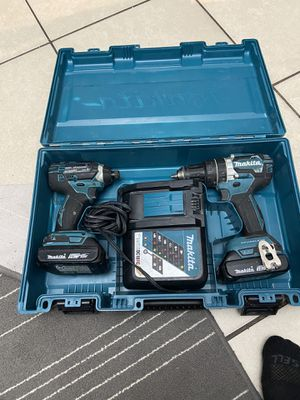 Makita 18-Vol Hammer Drill and Impact Drill for Sale in Miami, FL