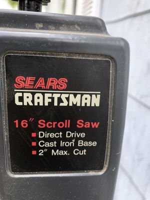 "16"" Scroll Saw by Sears/Craftsman for Sale in Waynesboro, VA"