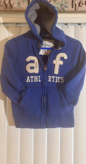 FOLLOW ME FOR MANY UPCOMING CLOTHING POSTS!!! Abercrombie & Finch Blue Zipper Hoodie Sweatshirt/Jacket Children's Size 7/8 for Sale in Henderson, NV