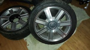 18 in Cadillac rims and tires for Sale in Wauna, WA