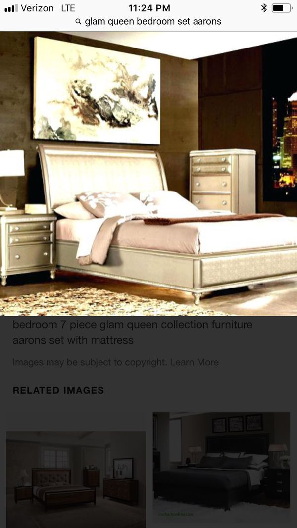 Excellent condition glam queen bedroom set! Includes bed frame, chest and  night stand. Bed frame is $250. Night stand is 100 and the chest is 150.  for ...