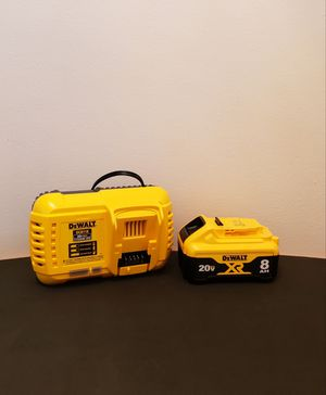 Brand New Fast Charger Dewalt and Battery XR8 FIRM PRICE for Sale in Woodbridge, VA