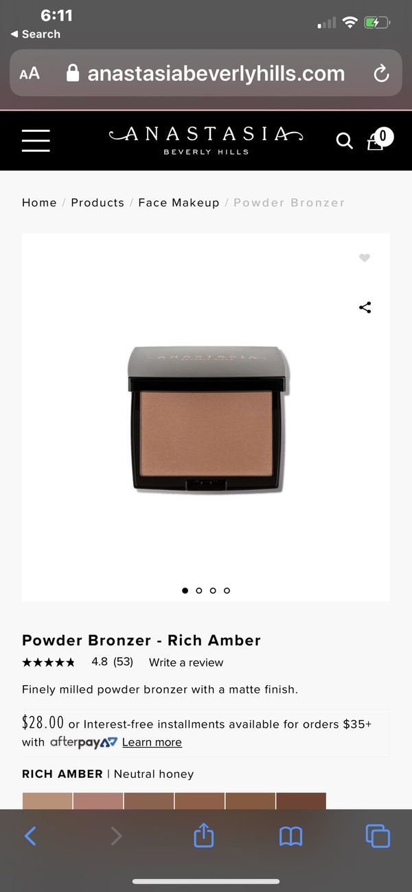 Anastasia Beverly Hills Bronzers in colors Saddle and Rich Amber