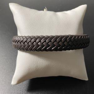 Brown Leather Stainless Steel Bracelet for Sale in Hialeah, FL