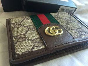 Gucci dbl. G stripe monogram wallet for Sale in San Bernardino, CA