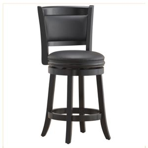 B 38. 24 Inches Swivel Counter Stool- Black. New for Sale in Austin, TX
